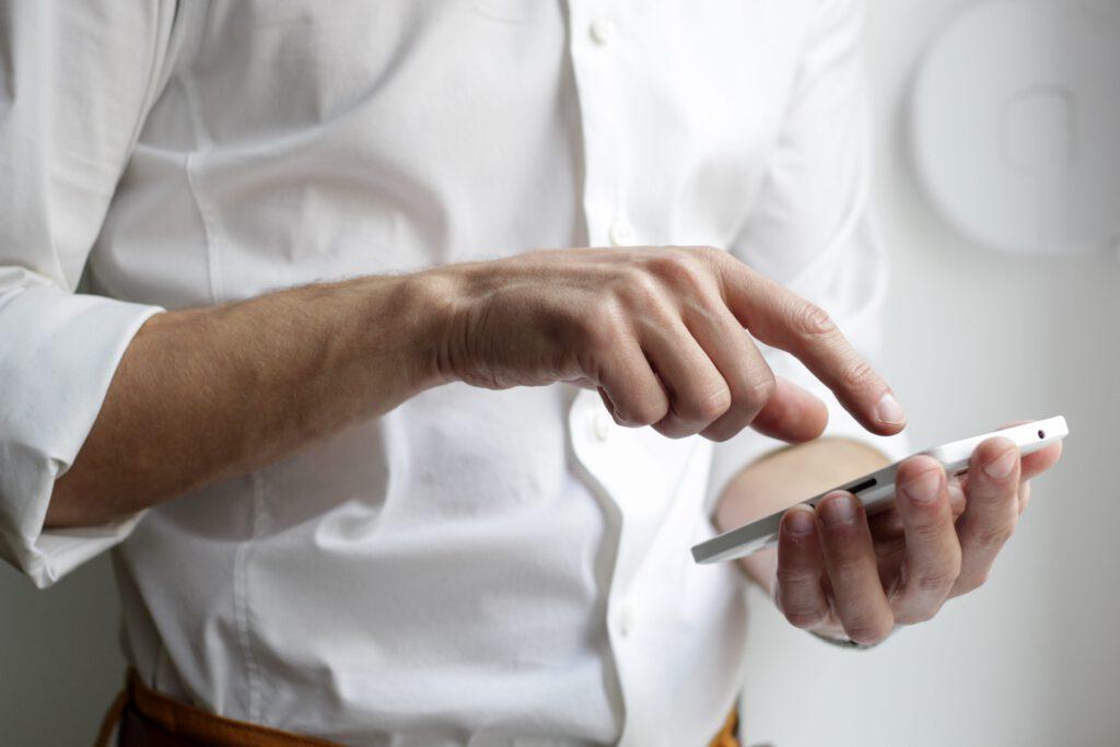 Mobiele gebruiker