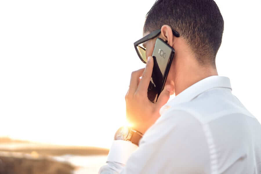 Guy on mobile phone